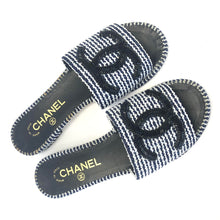 Load image into Gallery viewer, CHANEL Beaded Nautical Slides