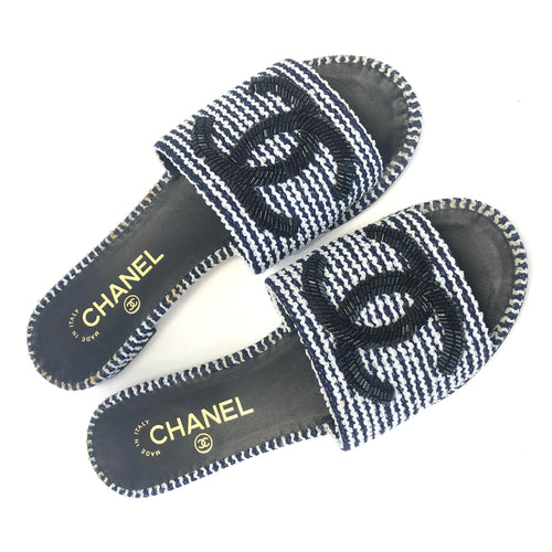 CHANEL Beaded Nautical Slides