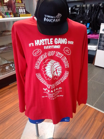 Longsleeve Hustle Gang Rouge