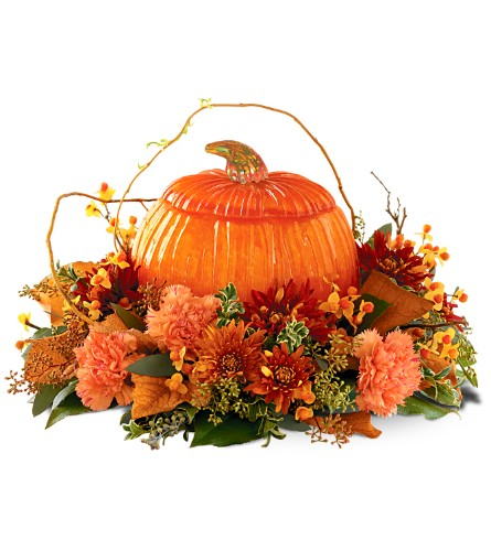 Art Glass Pumpkin