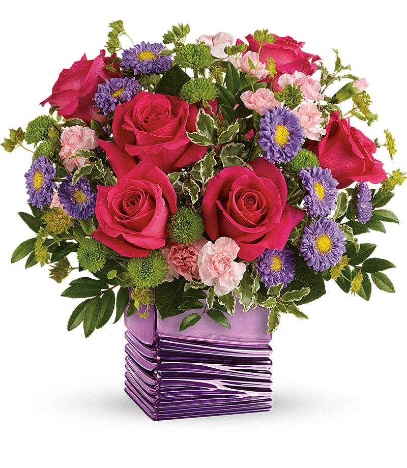 Lavender Waves Bouquet (Container Out Of Stock - will use purple cube)