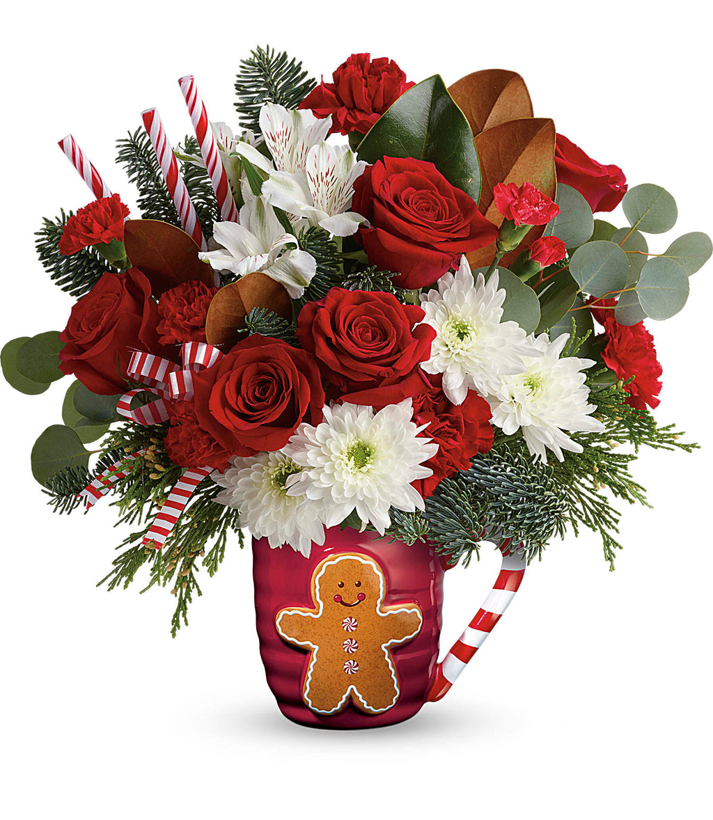 Send A Hug Gingerbread Greetings Bouquet