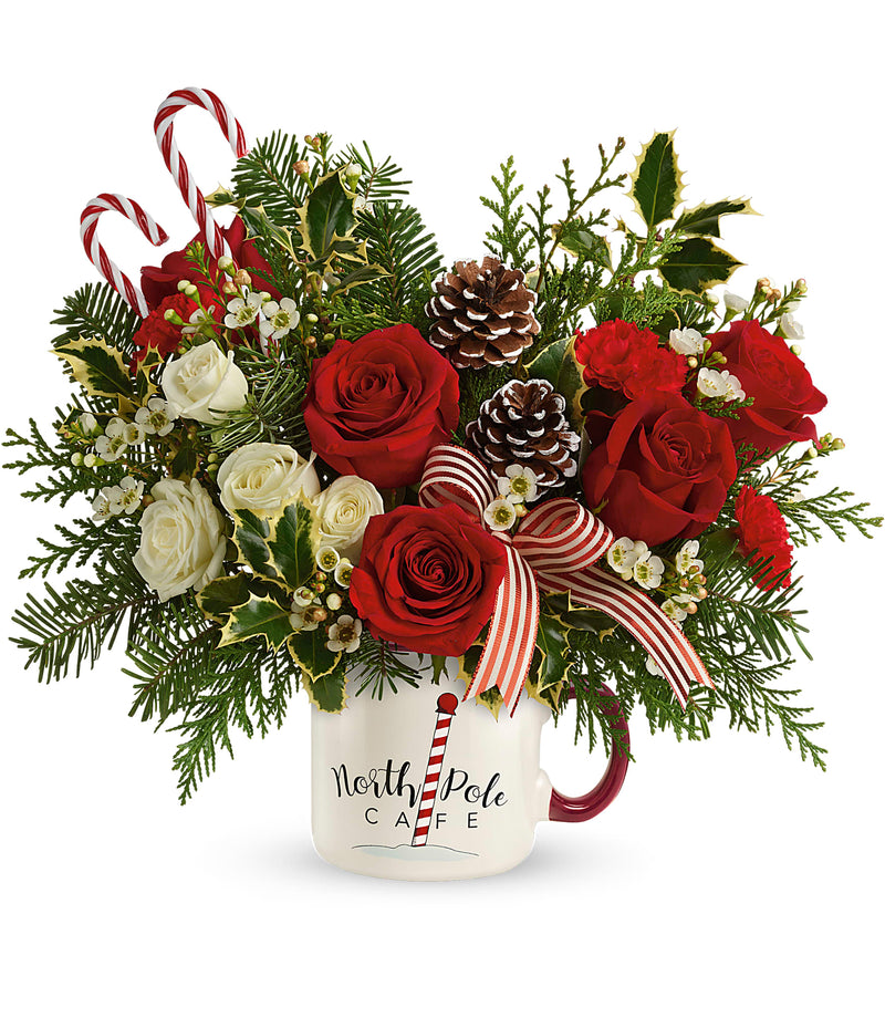 Send a Hug Cozy Holiday Mug Bouquet