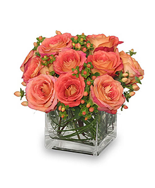 Just Peachy Roses Bouquet