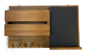 Wooden mail organizer - wall mounted.