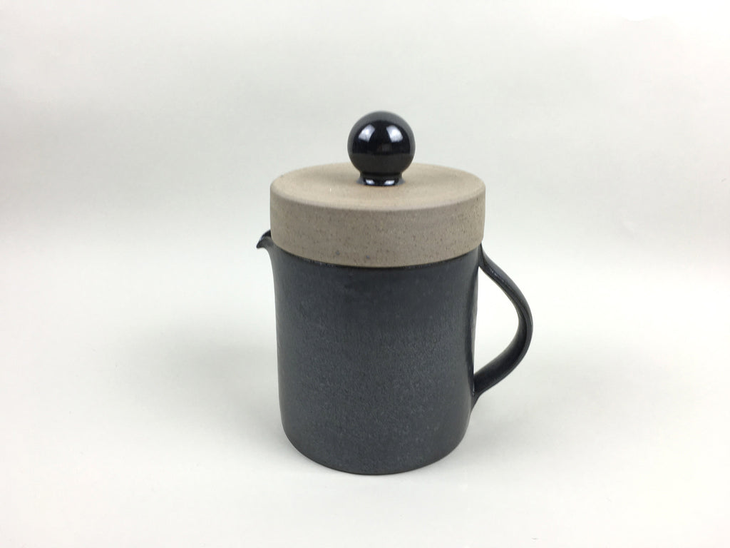 French Stoneware Basic Teapot - Anthracite - eyespy