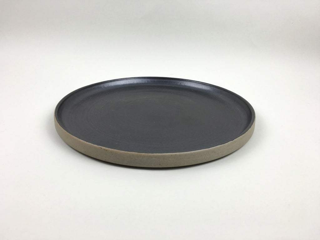 French Stoneware Basic dinner plate - Anthracite - eyespy