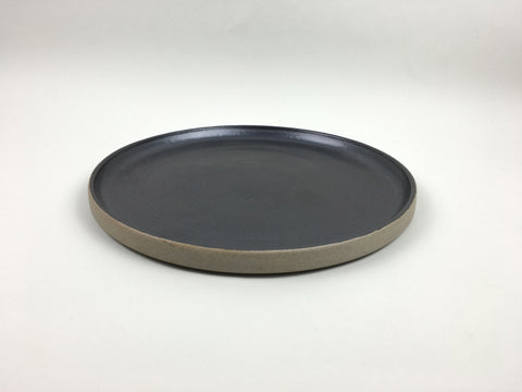 French Stoneware Basic dinner plate - Anthracite