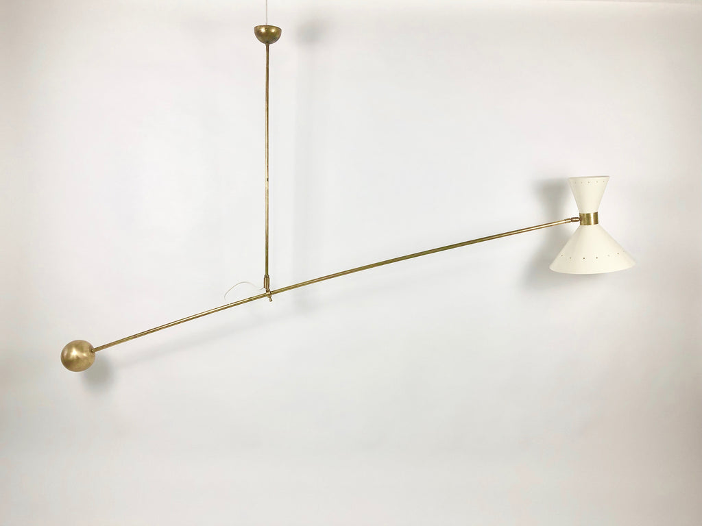 Huge mid century Italian diabolo counterweight ceiling light - eyespy