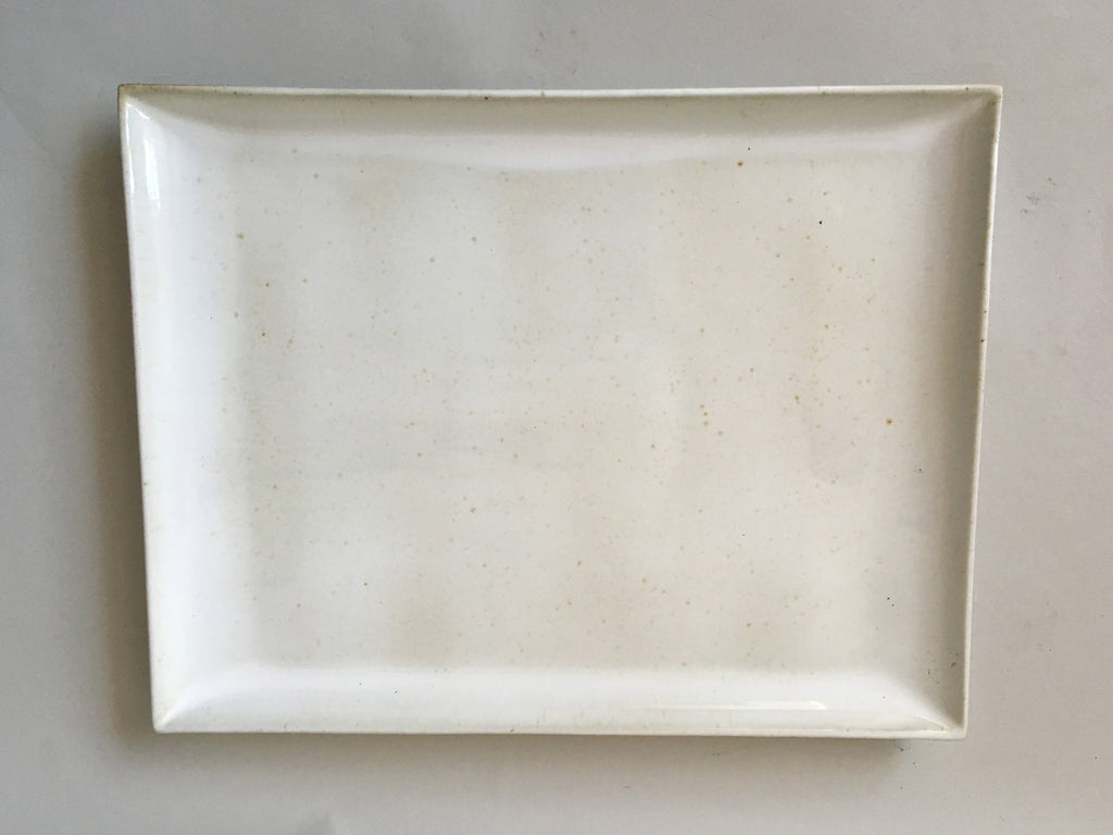 French Stoneware Basic serving plate square - Ivory - eyespy