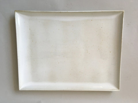 French Stoneware Basic serving plate square - Ivory