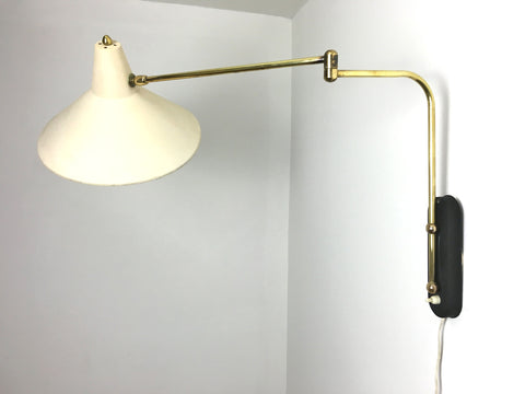 50s French swing arm wall lamp