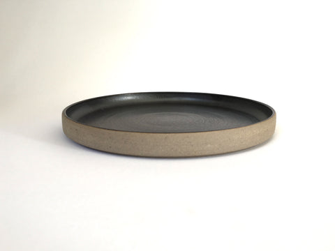 French Stoneware Basic dessert plate - Anthracite