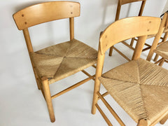 Danish J39 chairs by Borge Mogensen for FDB Mobler - eyespy