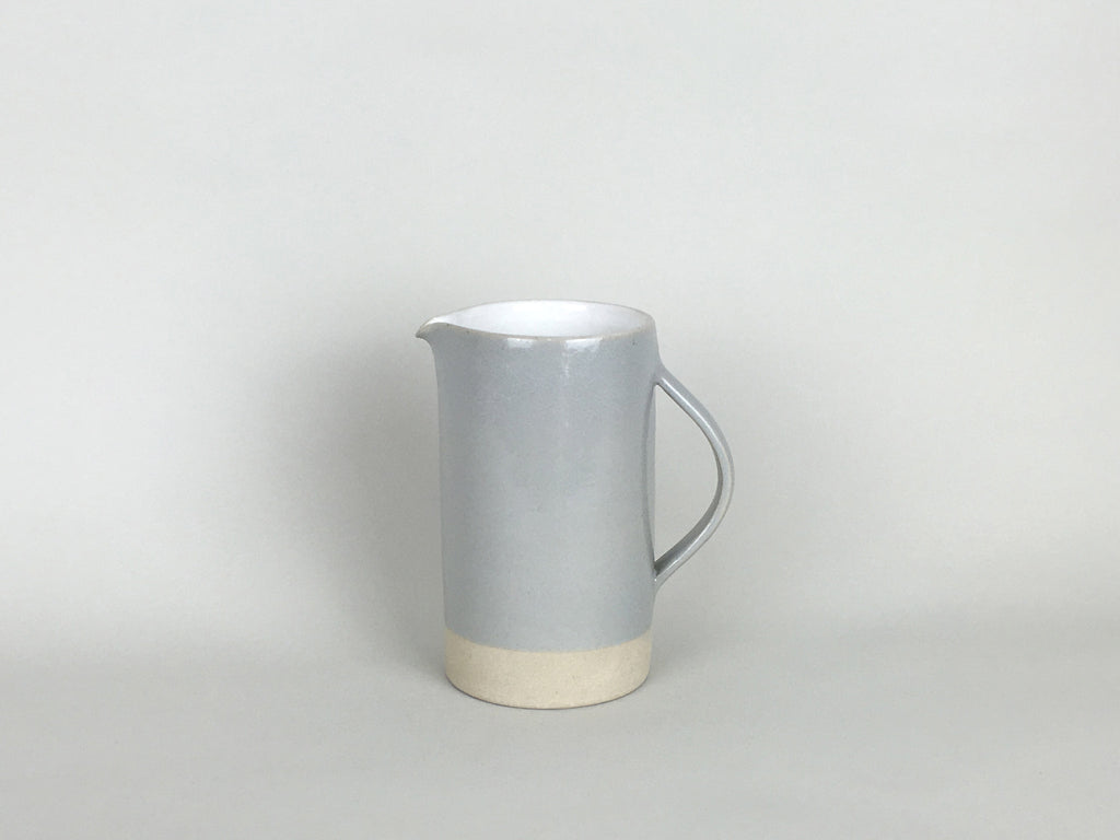 French Stoneware - Basic Jug Medium 500ml - White / Smoke - eyespy