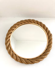 Rope mirror by Adrien Audoux and Frida Minet, France circa 1950-60.