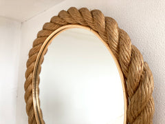 Rope mirror, Audoux & Minet. France 1950-60