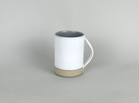 French Stoneware Basic Mug - White / Smoke