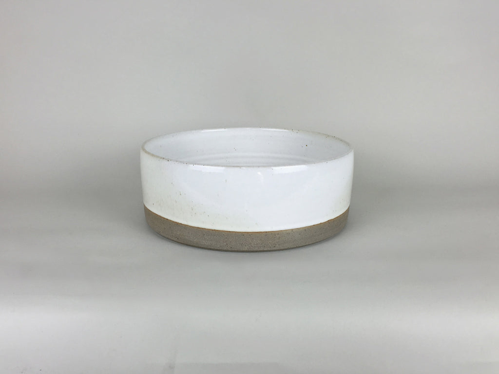 French Stoneware Basic large salad bowl - Ivory - eyespy
