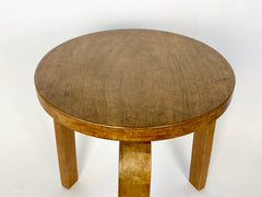 Eyespy - Early production Finmar Model 60 stool designed by Alvar Aalto in 1934, made in Finland.