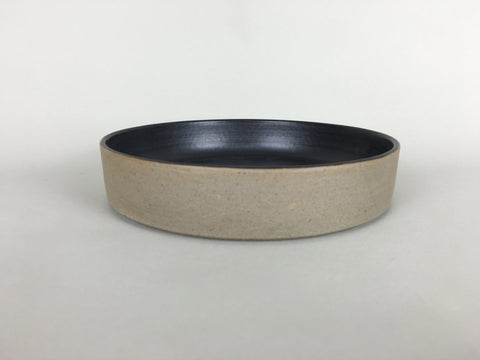 French Stoneware Basic shallow bowl or soup plate - Anthracite