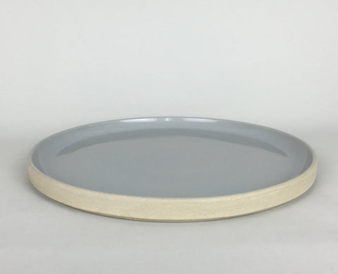 French Stoneware Basic dessert plate - Smoke