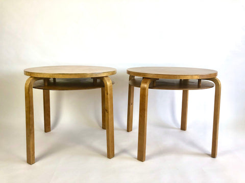 1930s Alvar Aalto model 70 tables, Finmar