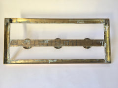 French Art Deco Brass Coat Rack - eyespy