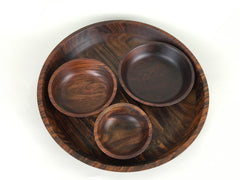 Seva wooden serving bowl and platter set by Tiipoi - eyespy
