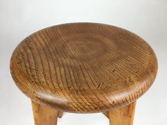 Mid century round top stool from France. Perriand, Prouvé, Le Corbusier era - eyespy