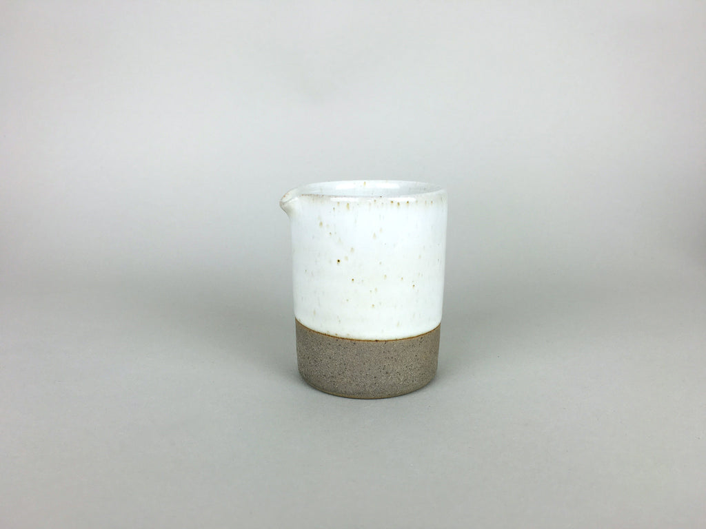 French Stoneware - Basic Milk Jug - Ivory - eyespy