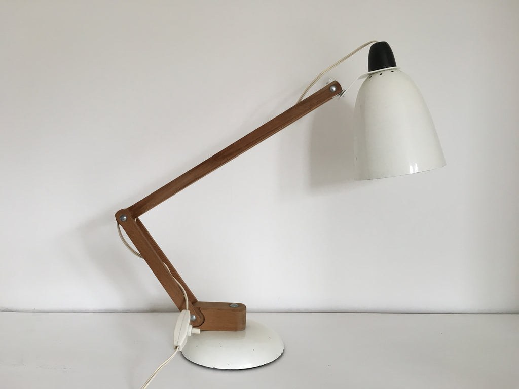 Habitat Conran Maclamp. White, wooden arm - eyespy