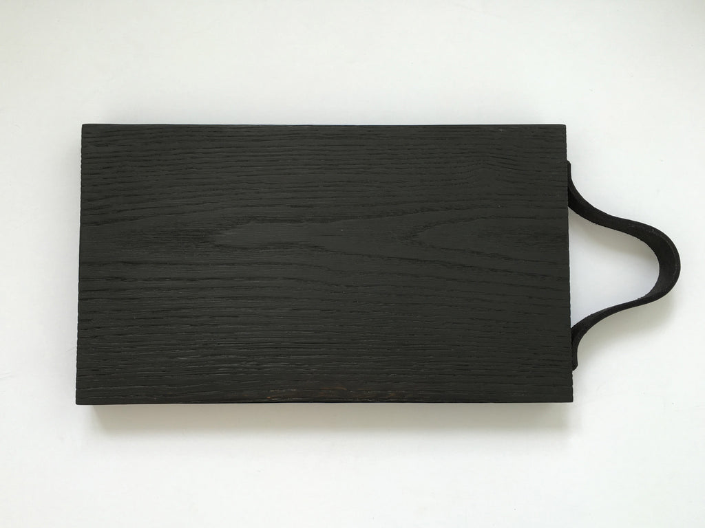 Black Charred Oak Chopping Board by Wild and Wood - eyespy