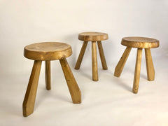 Sandoz stools by Charlotte Perriand, circa 1960, sourced from Les Arcs