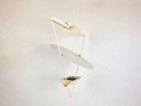 1980s Italian triangle ceiling light by Mario Botta for Artemide