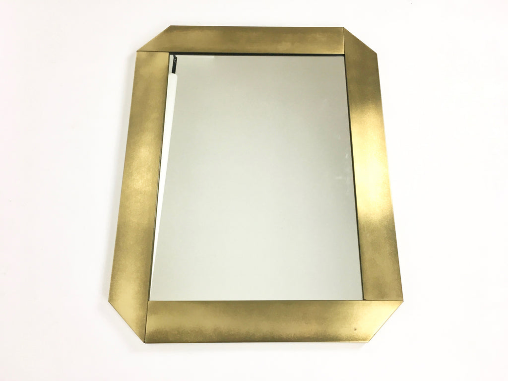1970s Italian brass wall mirror by Valentin & Co - eyespy