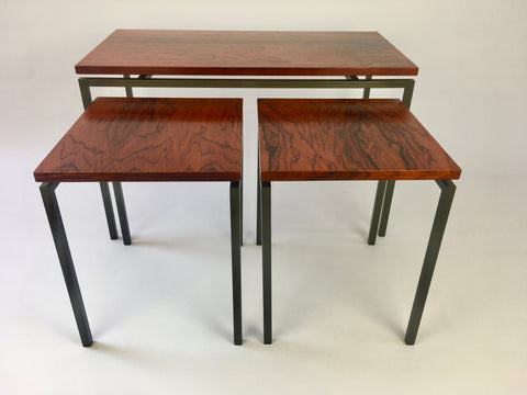 1960s rosewood set of side tables, Netherlands