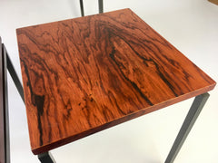 1960s rosewood set of side tables, Netherlands - eyespy