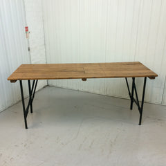 1950s pine and metal table - eyespy