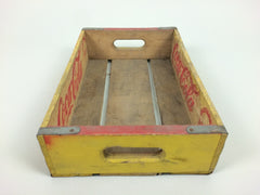 Vintage 1960s Coca Cola crate - Yellow - eyespy