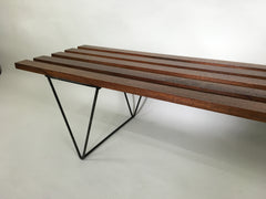 Mid century slatted bench - eyespy