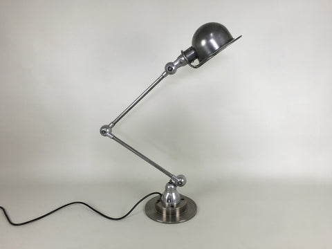 Vintage industrial French 2 arm table lamp by Jielde