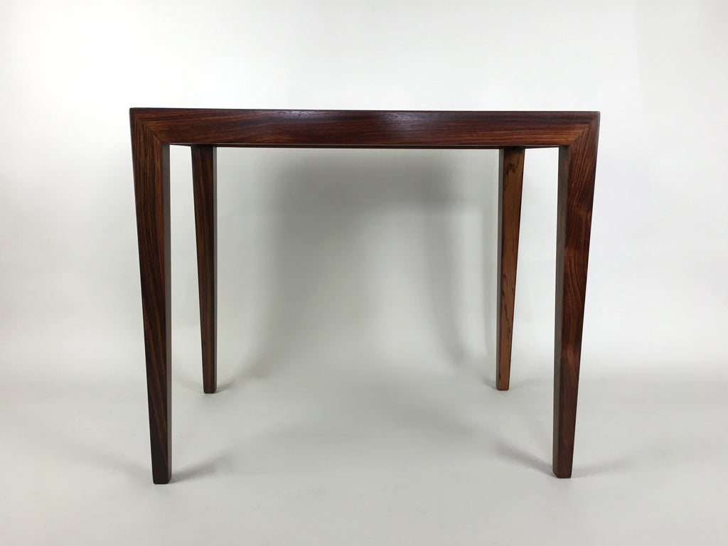Danish rosewood side table by Severin Hansen for Haslev - eyespy