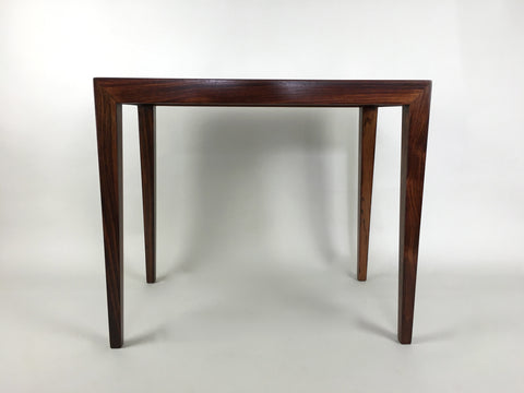 Danish rosewood side table by Severin Hansen for Haslev