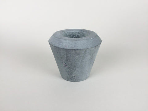 Cone of Stone double sided candle holder by Tiipoi