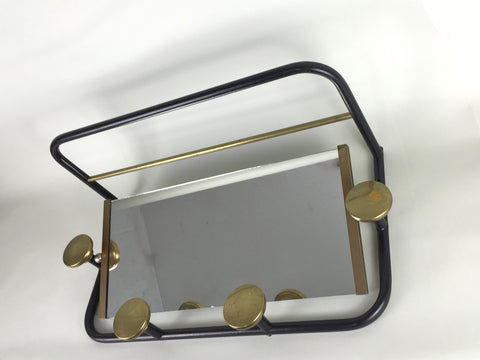 1950s coat rack - Black/Brass