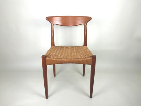 1960s Danish dining chairs by Arne Hovmand Olsen for Mogens Kold