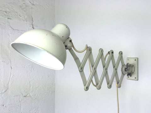Bauhaus Kaiser Idell Model 6718 scissor arm wall mounted lamp