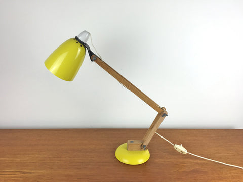 Habitat Conran Maclamp. Yellow, wooden arm