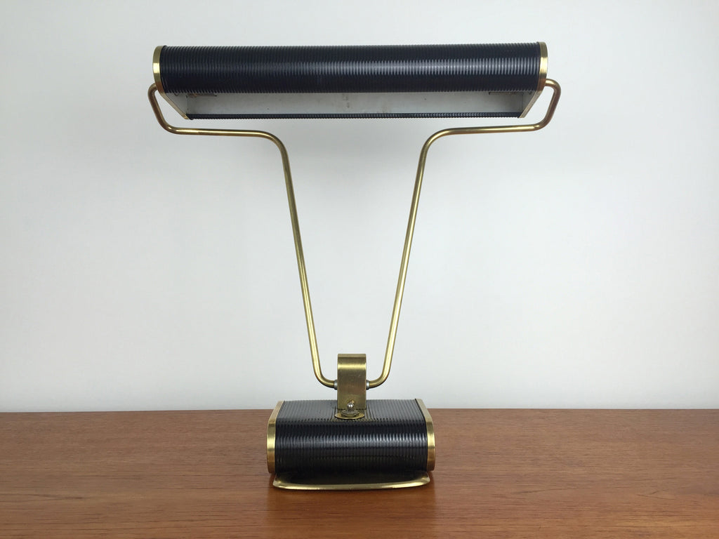 French mid century desk lamp by Jumo, attributed to Eileen Grey - eyespy